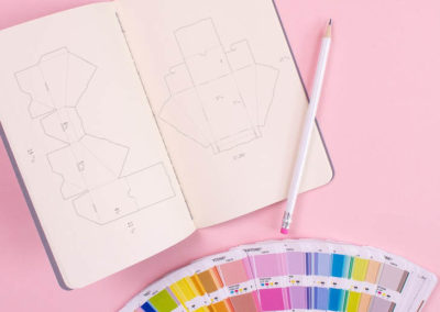 designing custom product packaging in a notebook in Raleigh NC