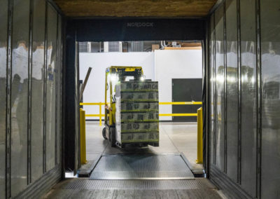 forklift loading boxes into a trailer for warehouse order fulfillment in Raleigh NC
